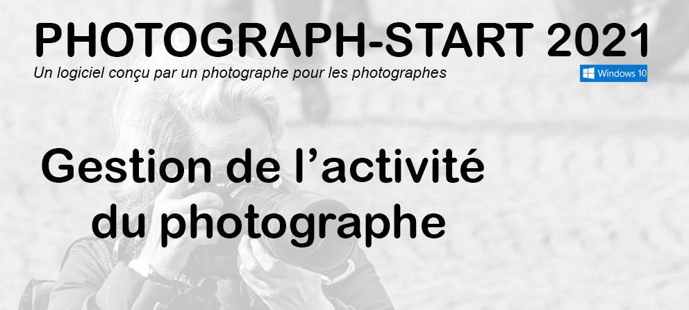 PHOTOGRAPH-START, gestion de l'activité du photographe
